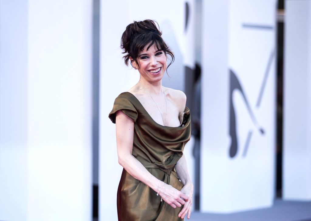 """VENICE, Sept. 1, 2017 - Actress Sally Hawkins arrives for the premiere of the movie """"The Shape of Water"""" at the 74th Venice Film Festival in Venice, Italy, on Aug. 31, 2017. - Sally Hawkins"""
