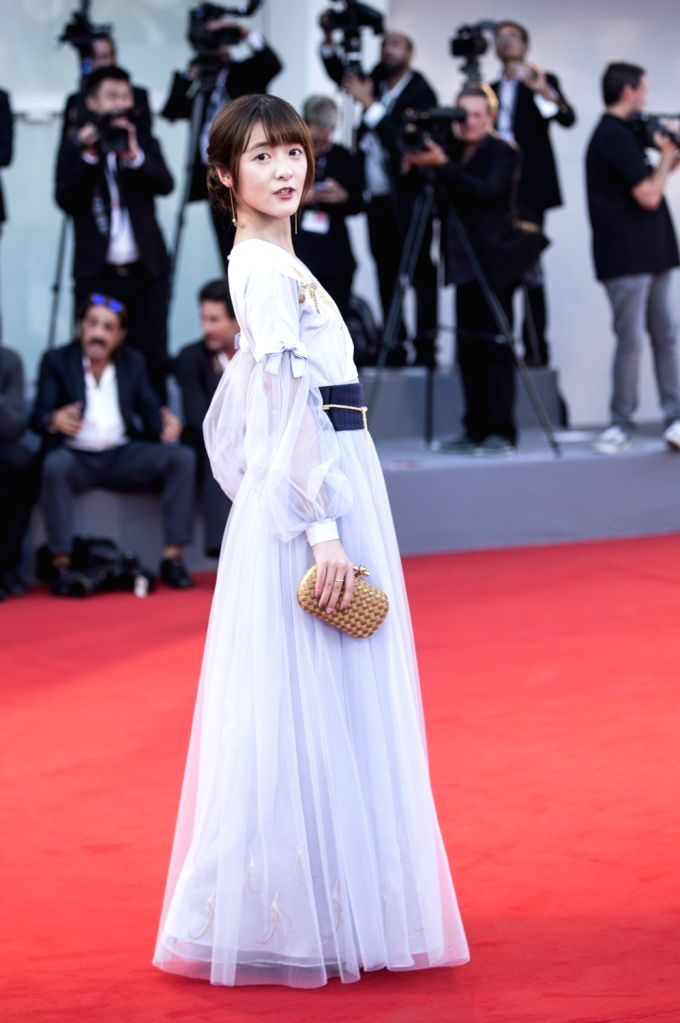 """VENICE, Sept. 1, 2017 - Actress Xu Jiao arrives for the premiere of the movie """"The Shape of Water"""" at the 74th Venice Film Festival in Venice, Italy, on Aug. 31, 2017. - X"""