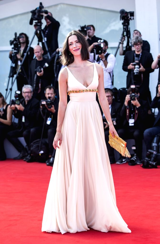 """VENICE, Sept. 1, 2017 - Rebecca Hall, jury member of the 74th Venice Film Festival competition, arrives for the premiere of the movie """"First Reformed"""" at the 74th Venice Film Festival in ..."""
