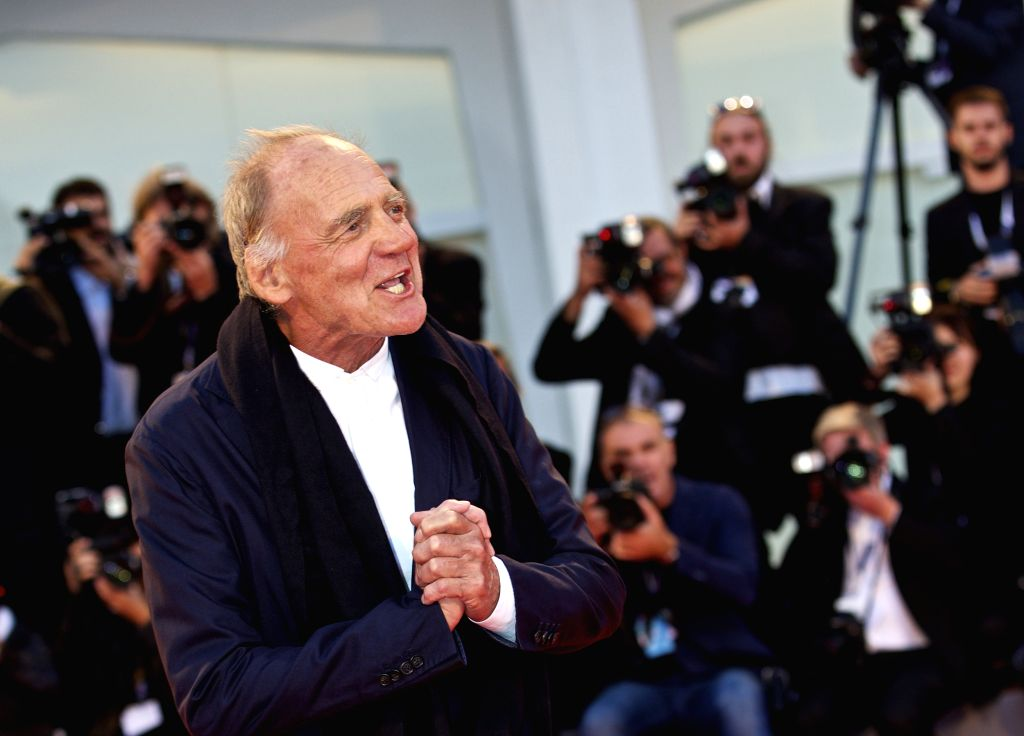 "VENICE, Sept. 10, 2015 (Xinhua) -- Actor Bruno Ganz attends a premiere for ""Remember"" during the 72nd Venice Film Festival in Venice, Italy, on Sept. 10, 2015. (Xinhua/Jin Yu/IANS) - Bruno Ganz"