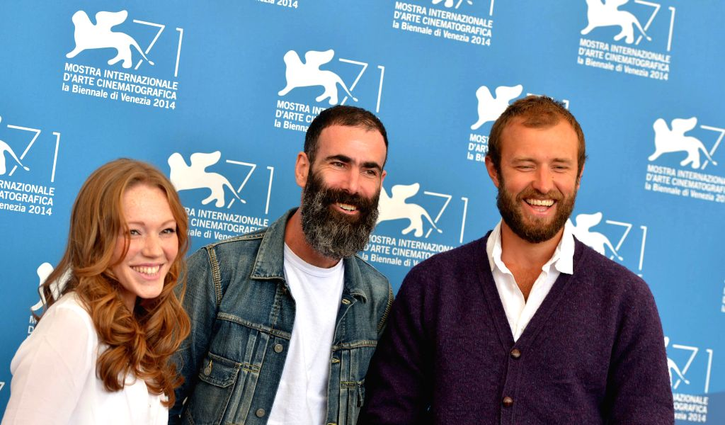 Actor Benjamin Dilloway, actress Charlotte Spencer and director Duane Hopkins (from R to L) pose during the photo call for 'Bypass' which is selected for the ... - Benjamin Dilloway