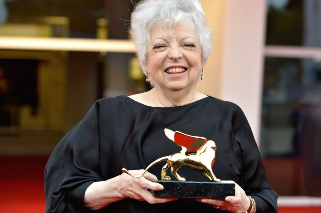 American film editor Thelma Schoonmaker poses after recieving the Golden Lions for Lifetime Achievement 2014 during the 71st Venice Film Festival, in Lido of Venice,