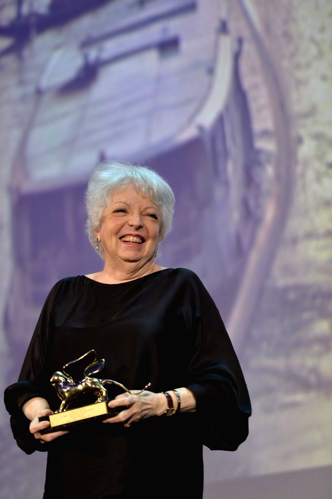 American film editor Thelma Schoonmaker recieves the Golden Lions for Lifetime Achievement 2014 during the 71st Venice Film Festival, in Lido of Venice, Italy,  ...