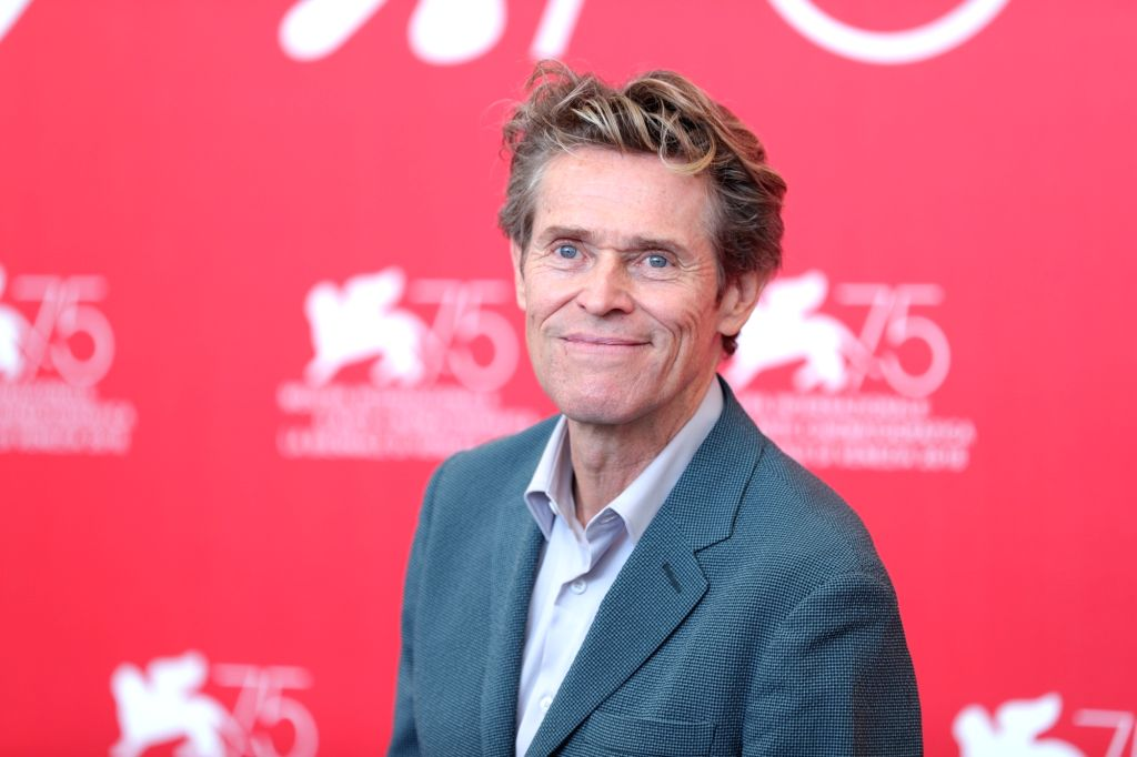 """VENICE, Sept. 3, 2018 (Xinhua) -- Actor Willem Dafoe attends """"At Eternity's Gate"""" photocall during the 75th Venice International Film Festival at Sala Casino, Venice, Italy, Sept. 3, 2018. (Xinhua/Cheng Tingting/IANS) - Willem Dafoe"""