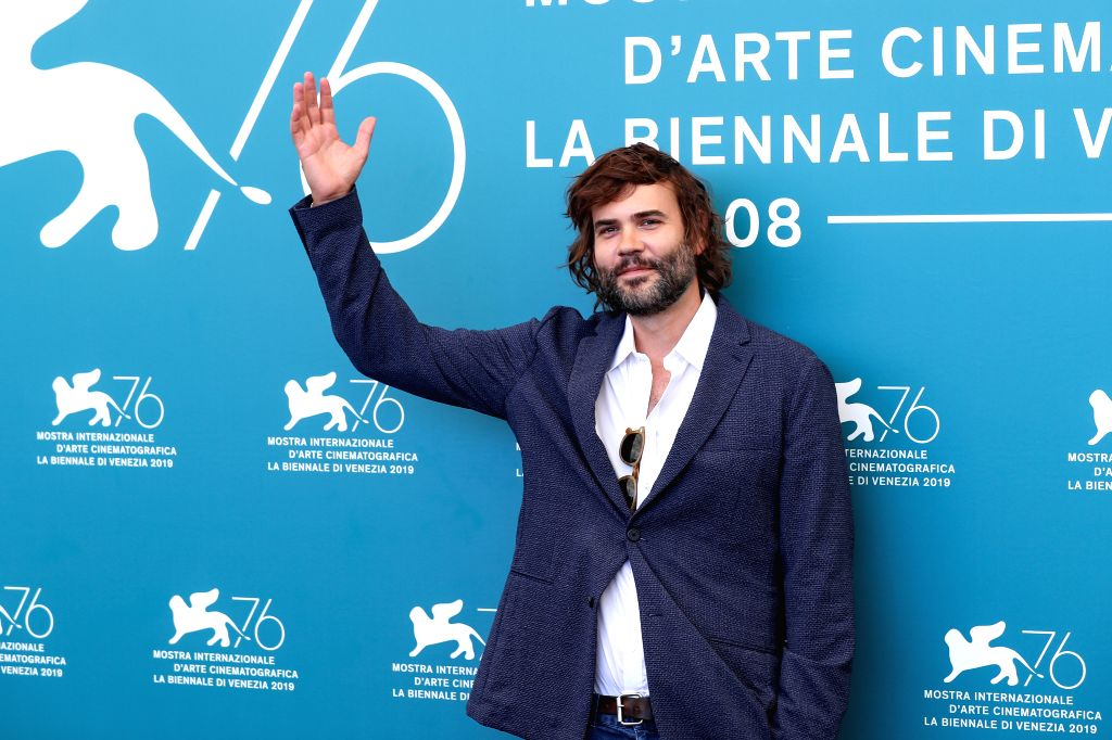 "VENICE, Sept. 3, 2019 - Actor Rossif Sutherland attends a photocall for the film ""Guest of Honour"" during the 76th Venice Film Festival in Venice, Italy, on Sept. 3, 2019. - Rossif Sutherland"