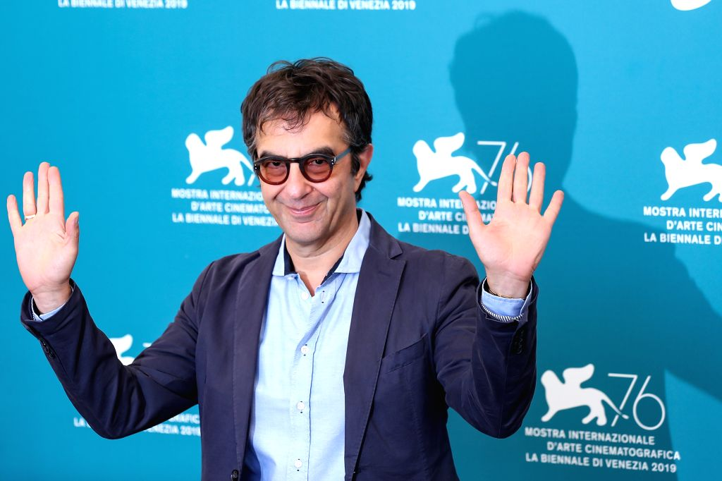 "VENICE, Sept. 3, 2019 - Director Atom Egoyan attends a photocall for the film ""Guest of Honour"" during the 76th Venice Film Festival in Venice, Italy, on Sept. 3, 2019."