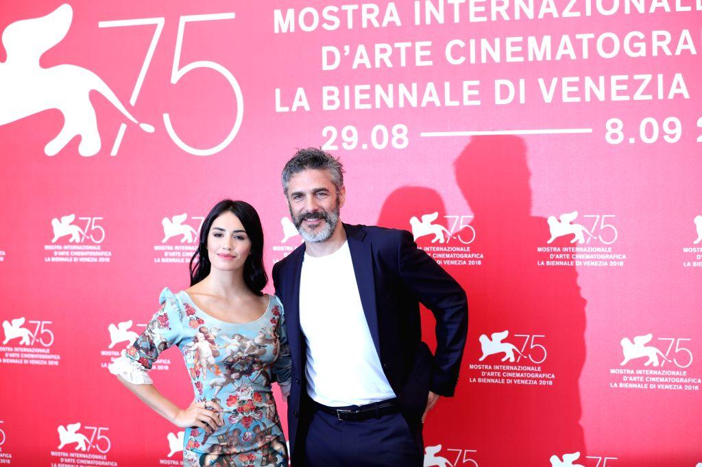 "VENICE, Sept. 4, 2018 - Actress Lali Esposito and actor Leonardo Sbaraglia (R) attend ""Acusada"" photocall during the 75th Venice International Film Festival in Venice, Italy, Sept. 4, 2018. - Lali Esposito"