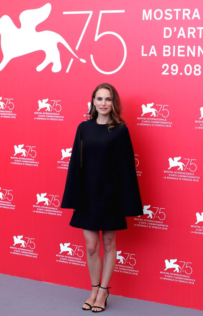 """VENICE, Sept. 4, 2018 - Actress Natalie Portman attends """"Vox Lux"""" photocall during the 75th Venice International Film Festival in Venice, Italy, Sept. 4, 2018. - Natalie Portman"""