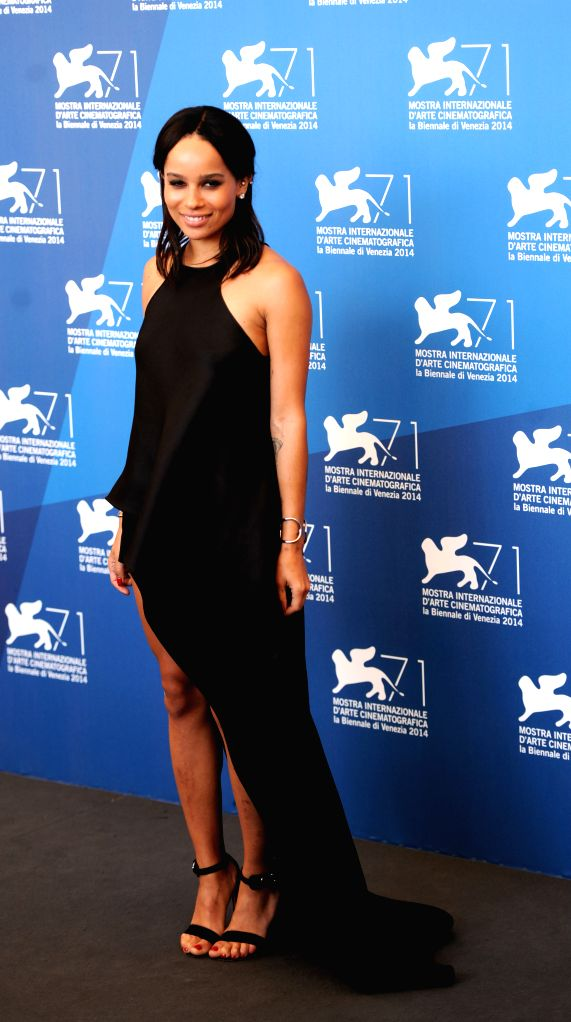 "Actress Zoe Kravitz poses at the photocall for ""Good kill "" which is selected in the competition unit  during the 71st Venice Film Festival, in Lido of ... - Zoe Kravitz"