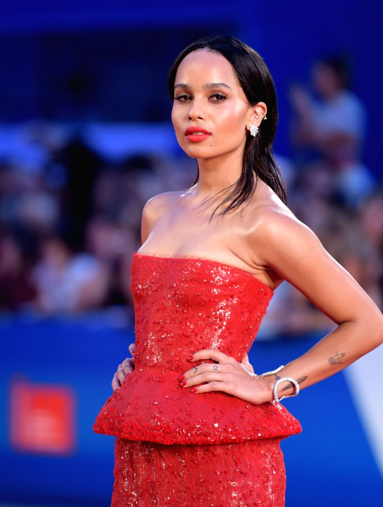 "Actress Zoe Kravitz poses on the red carpet for ""Good Kill"" which is selected for the main competition during the 71st Venice Film Festival, in Lido of ... - Zoe Kravitz"