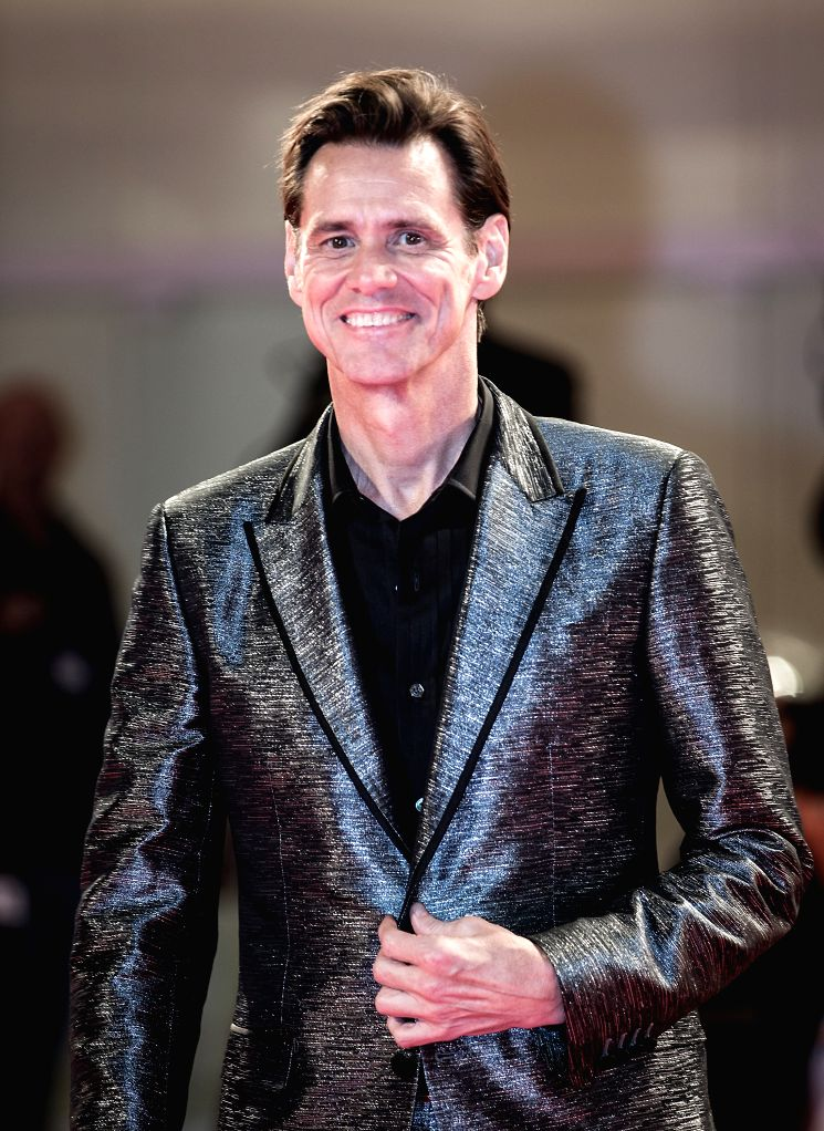 """VENICE, Sept. 6, 2017 - Actor Jim Carrey attends the premiere of the movie """" Jim & Andy: The Great Beyond"""" at the 74th Venice Film Festival in Venice, Italy, Sept. 5, 2017. - Jim Carrey"""