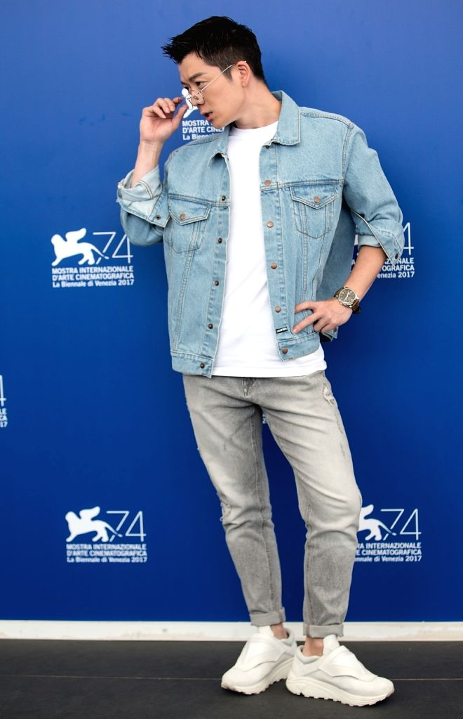 """VENICE, Sept. 7, 2017 - Actor Wang Yuexin poses during a photocall for the movie """"Angels wear white"""" at the 74th Venice Film Festival in Venice, Italy, Sept. 7, 2017. - Wang Yuexin"""