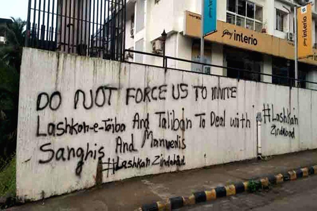 Venomous 'graffiti war' continues in Mangaluru third day running.