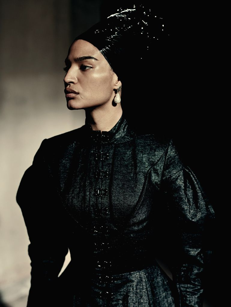 "VERONA (ITALY), Dec. 4, 2019 Image released on Dec. 3, 2019 shows a photograph of U.S. actress Indya Moore for the ""Looking for Juliet"" 2020 Pirelli Calendar, taken by Italian ... - Indya Moore"