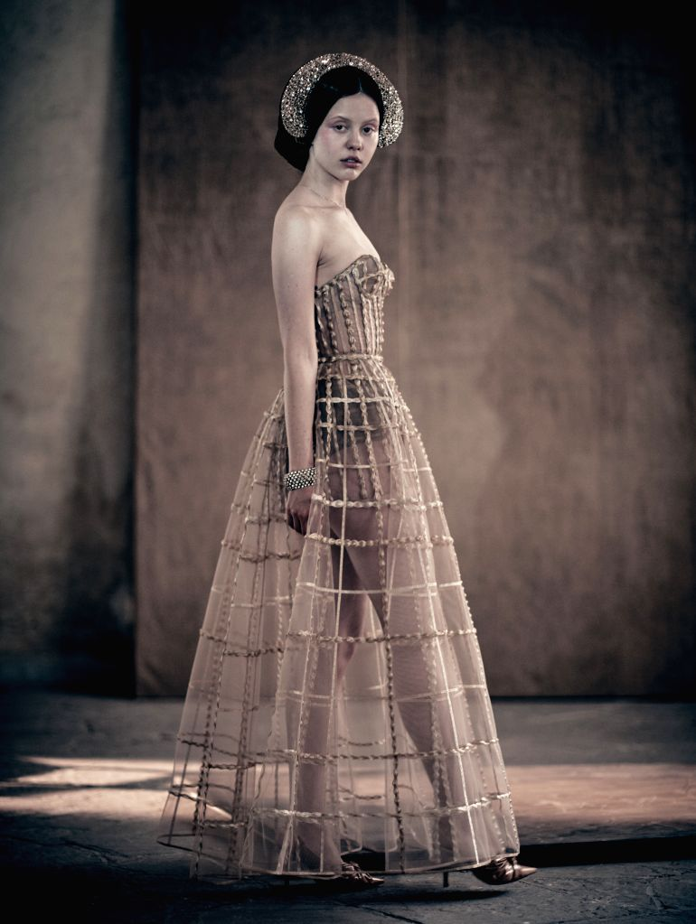 "VERONA (ITALY), Dec. 4, 2019 Image released on Dec. 3, 2019 shows a photograph of British actress Mia Goth for the ""Looking for Juliet"" 2020 Pirelli Calendar, taken by Italian ... - Mia Goth"
