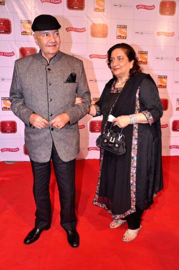 Veteran actor Prem Chopra at the red carpet of Stardust Awards at Jan 26 in Mumbai. - Prem Chopra
