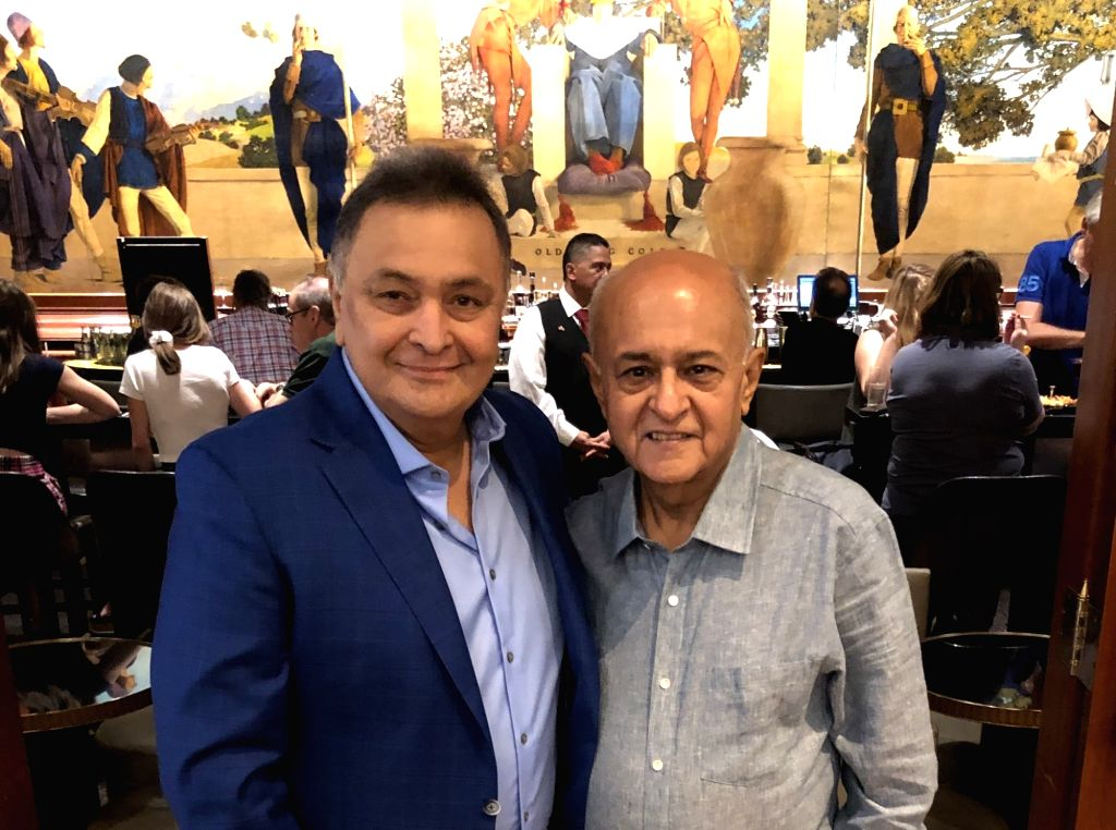 "Veteran actor Rishi Kapoor, in a latest picture, looks fitter and better. In a photograph posted on social media, he wrote: ""Such a joy to meet my old dear friend Amit Khanna. We at the King ... - Rishi Kapoor and Amit Khanna"