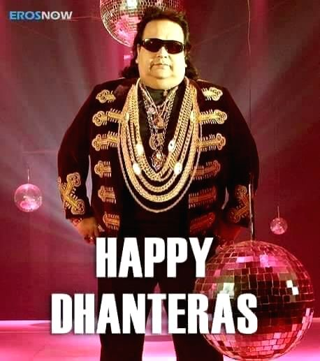 Veteran actor Rishi Kapoor used an image of singer-composer Bappi Lahiri wearing lots of gold chains to send in his good wishes for Dhanteras on social media. The actor is quite active on social ... - Rishi Kapoor