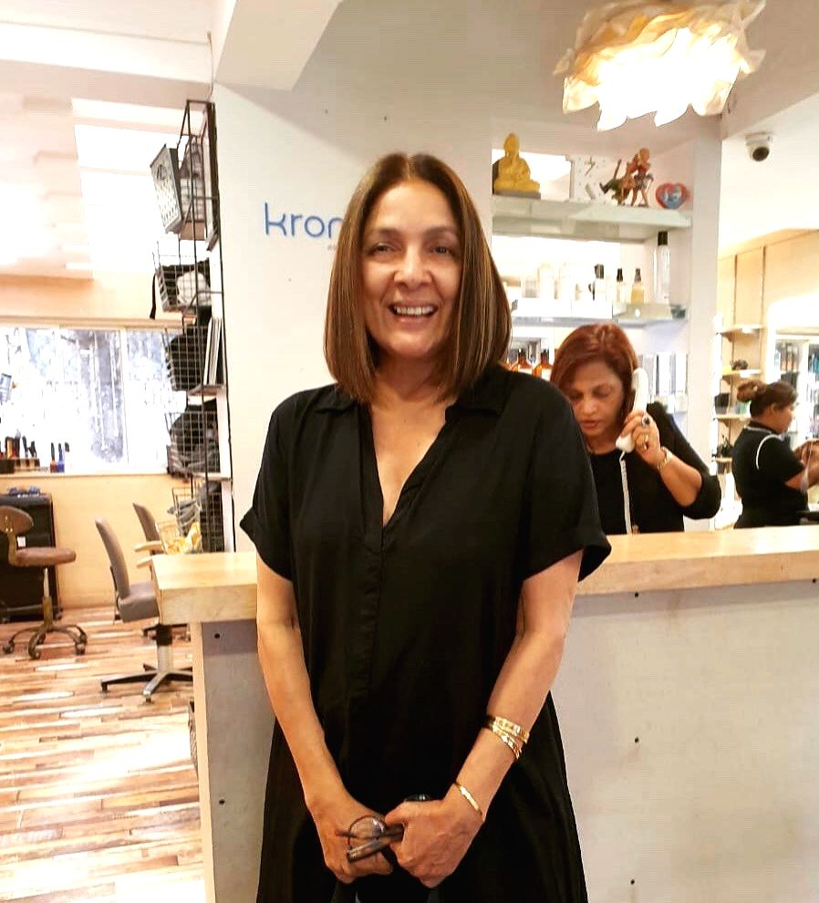 """Veteran actress Neena Gupta flaunted her new hairstyle and then requested Google to """"reduce"""" her age online. Neena, 60, who is gearing up for the release of her next """"Shubh Mangal Zyada Savdhaan"""", took to Twitter on Wednesday morning to share a photo - Neena Gupta"""