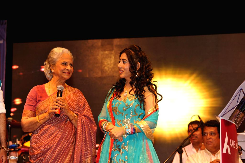 Veteran actress Waheeda Rehman at singer Sanjeevani Bhelande's musical tribute to her in Mumbai on September 6th, 2014. - Waheeda Rehman