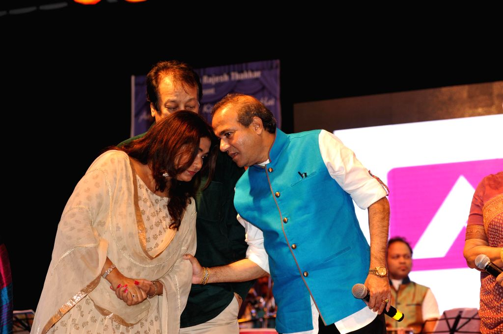 Veteran actress Waheeda Rehman at singer Sanjeevani Bhelande's musical tribute to her in Mumbai on September 6th, 2014. - Waheeda Rehman