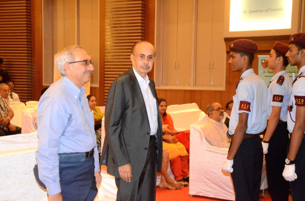 Veteran industrialists Adi Godrej and Nadir Godrej at 150 year celebration of St.Xavier's High School in Mumbai on Oct 31, 2018.