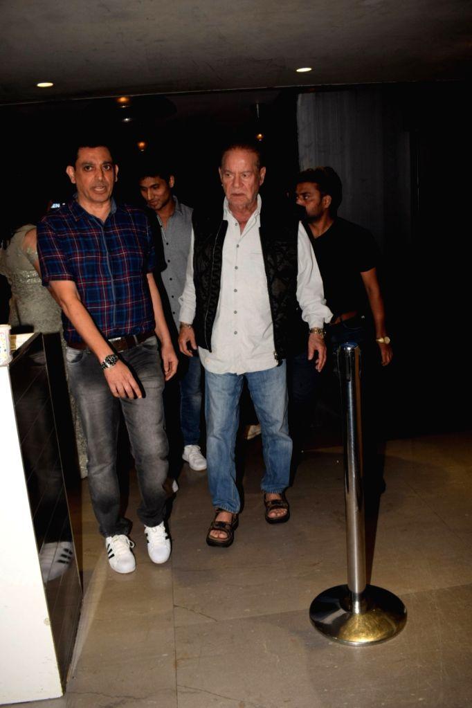 """Veteran screenwriter Salim Khan at the special screening of film """"Jack and Dil"""" in Mumbai on Nov 1, 2018. - Khan"""
