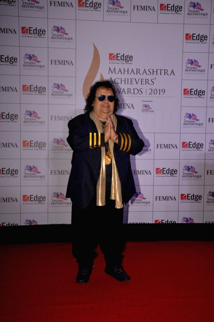Veteran singer-composer Bappi Lahiri at ET Edge Maharashtra Achievers' Awards 2019 in Mumbai, on March 14, 2019.