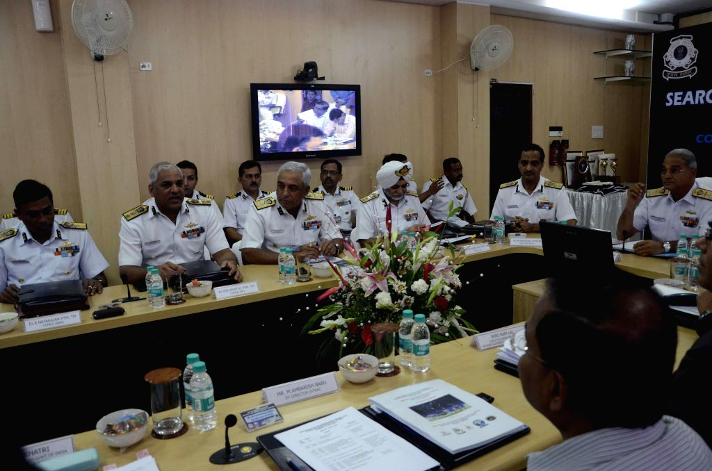 Vice Admiral Anurag G Thapliyal,AVSM and Bar, Director General Indian Coast Guard during XII National Maritime Search and Rescue (NMSAR) Board Meeting in Mumbai on Aug 12, 2014.