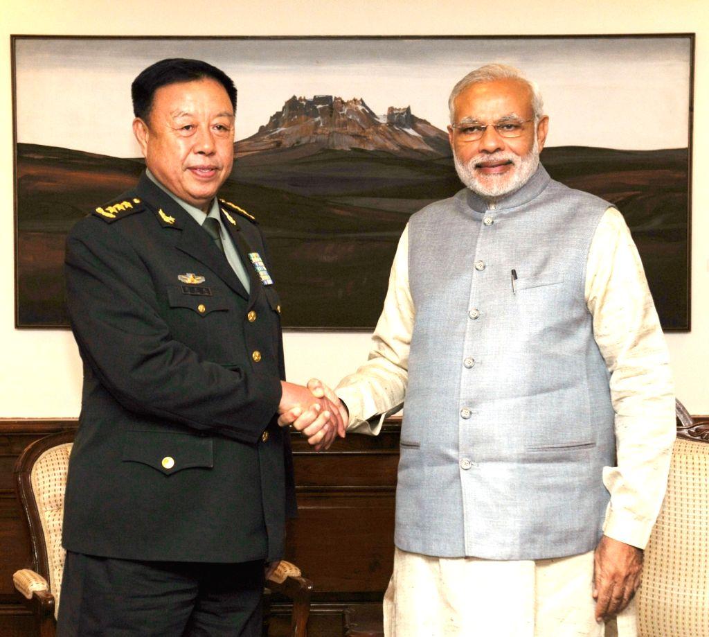 Vice Chairman of Central Military Commission of China, Gen. Fan Changlong calls on the Prime Minister Narendra Modi, in New Delhi on Nov 17, 2015. - Narendra Modi