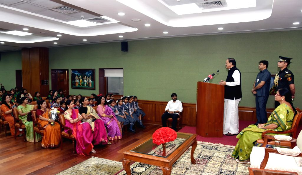 Vice President M. Venkaiah Naidu addresses students from various schools from across the National Capital Region and other neighboring states, on the occasion of Children???s Day, in New ... - M. Venkaiah Naidu