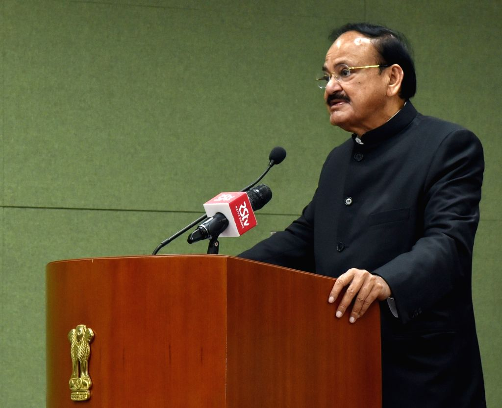 "Vice President M. Venkaiah Naidu addresses after releasing the book titled ""Quality, Accreditation and Ranking - A Silent Revolution in the Offing in Indian Higher Education"" ... - M. Venkaiah Naidu"