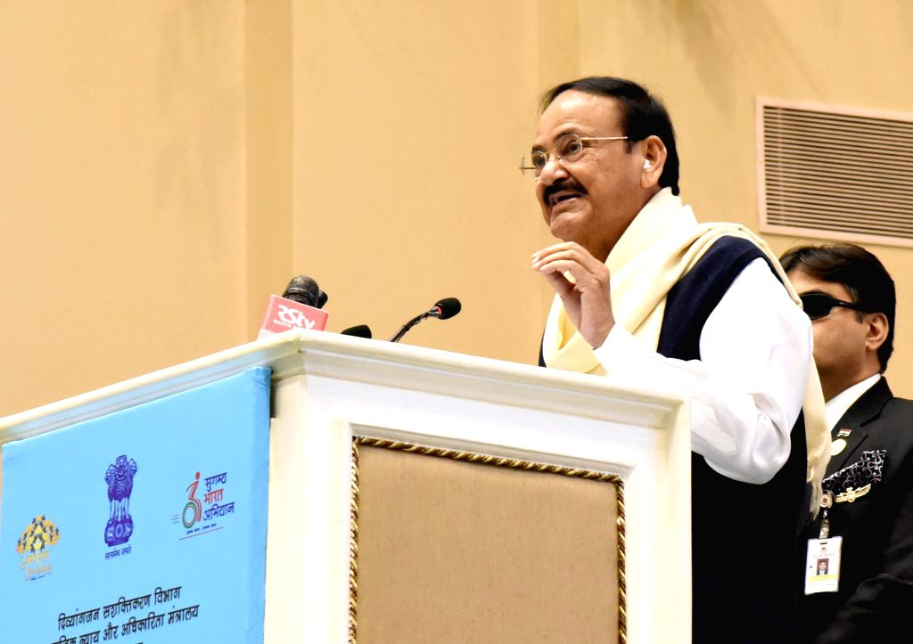 Vice President M. Venkaiah Naidu addresses after presenting the National Awards for the Empowerment of Persons with Disabilities (Divyangjan), on the occasion of the International Day of ... - M. Venkaiah Naidu