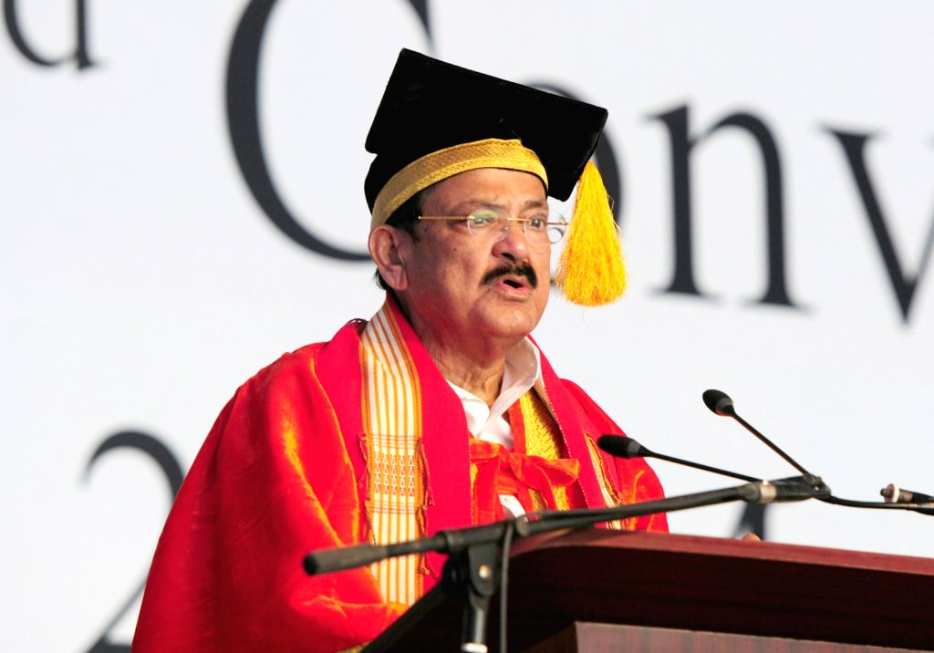 Vice President M. Venkaiah Naidu addresses at the 2nd Convocation of National Institute of Technology, in Chumukedima of Nagaland's Dimapur on May 23, 2018. - M. Venkaiah Naidu