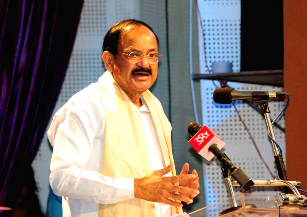 Vice President M. Venkaiah Naidu addresses at the Convocation of Tripura University in Agartala on May 23, 2018. - M. Venkaiah Naidu