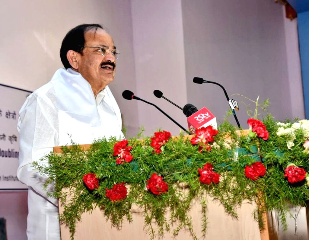 Vice President M. Venkaiah Naidu addresses at the Central Research Institute for Dryland Agriculture (CRIDA), in Hyderabad on July 03, 2018. - M. Venkaiah Naidu