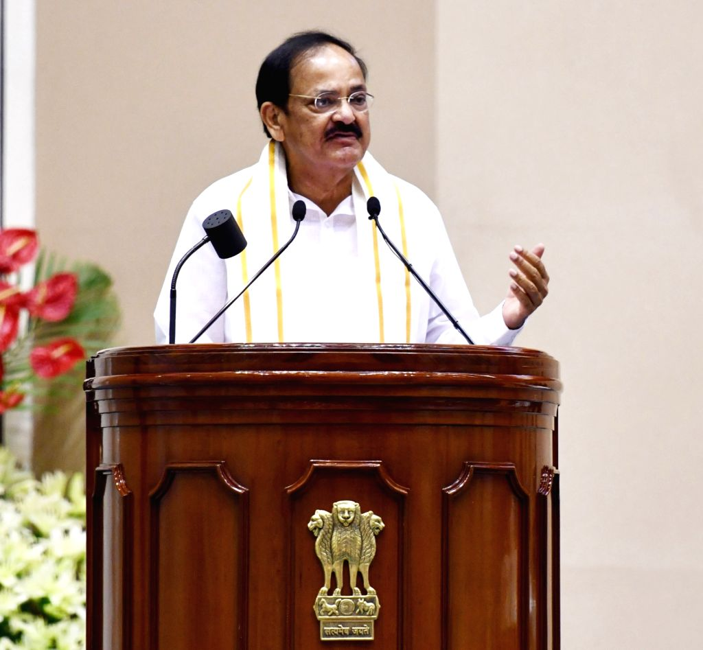 "Vice President M. Venkaiah Naidu addresses at the launch of ""Moving On... Moving Forward: A Year In Office"" - a book marking the completion of his one year as the Vice President ... - M. Venkaiah Naidu"