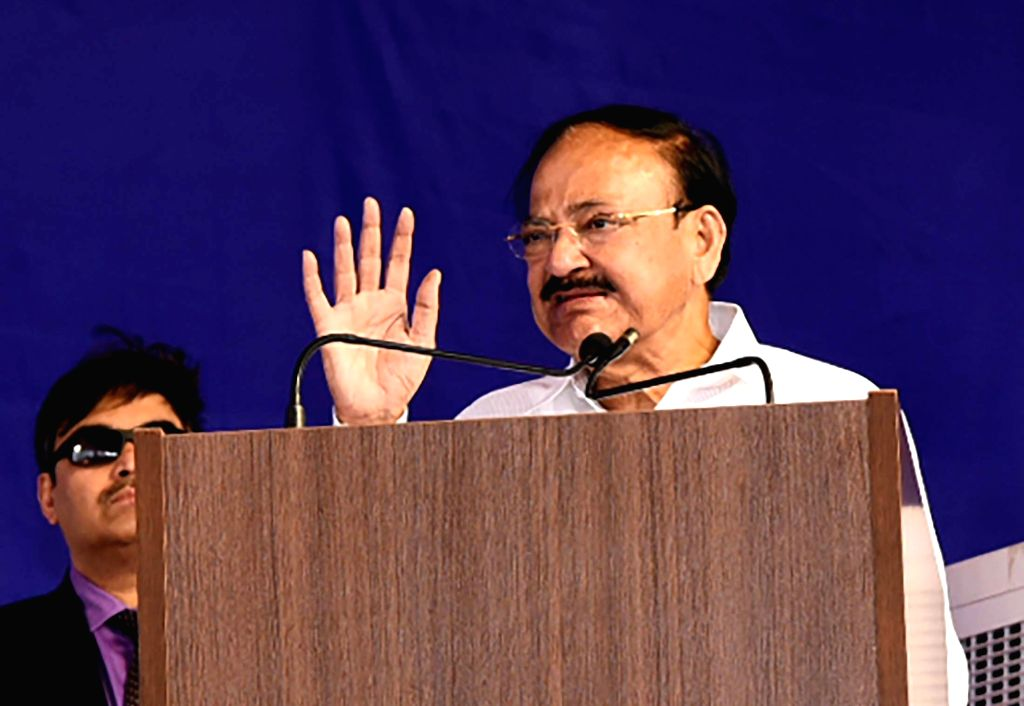 Vice President M. Venkaiah Naidu addresses at the inauguration function of CMR University Campus, in Bengaluru on February 10, 2019. - M. Venkaiah Naidu