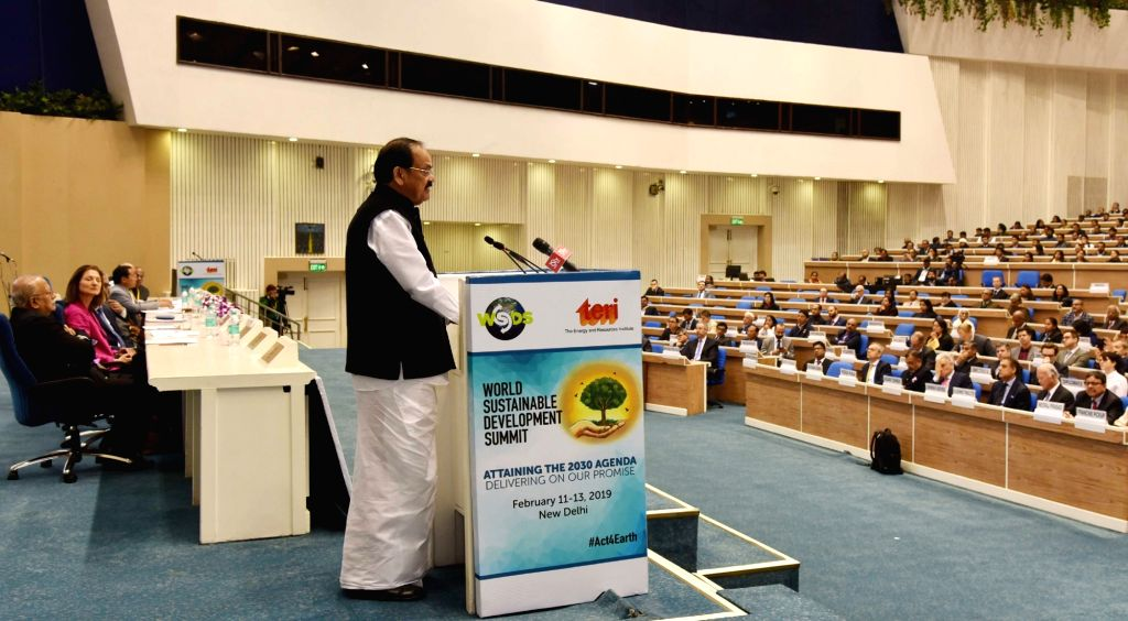 Vice President M. Venkaiah Naidu addresses at the inaugural session of the World Sustainable Development Summit 2019, organised by The Energy and Resources Institute (TERI), in New Delhi ... - M. Venkaiah Naidu