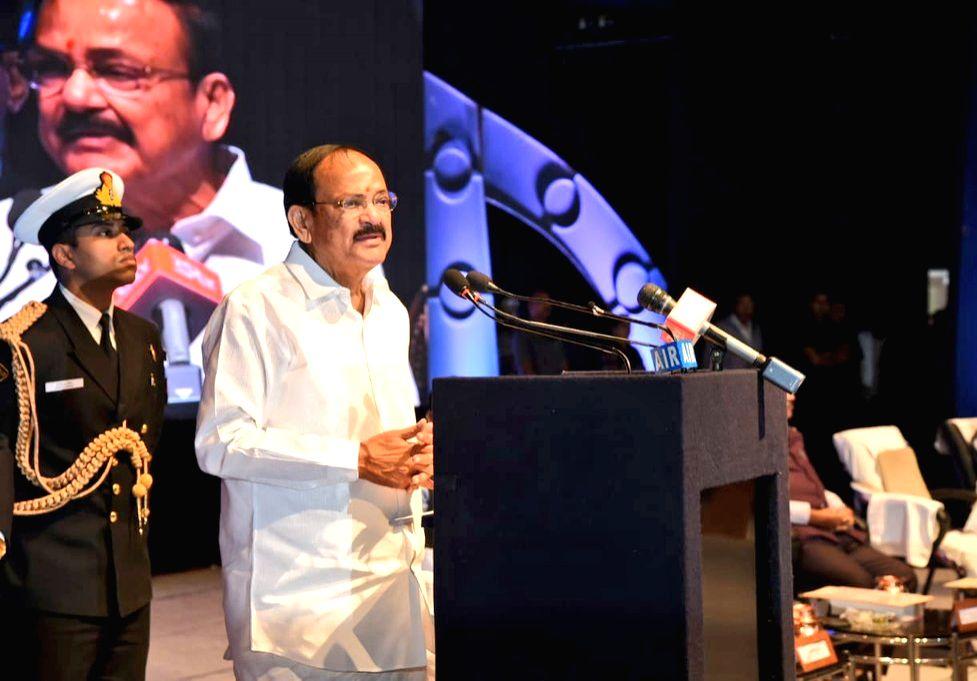 Vice President M. Venkaiah Naidu addresses at the Centenary celebrations of All India Oriental Conference at Kavikulaguru Kalidas Sanskrit University, in Nagpur on Jan 10, 2020. - M. Venkaiah Naidu
