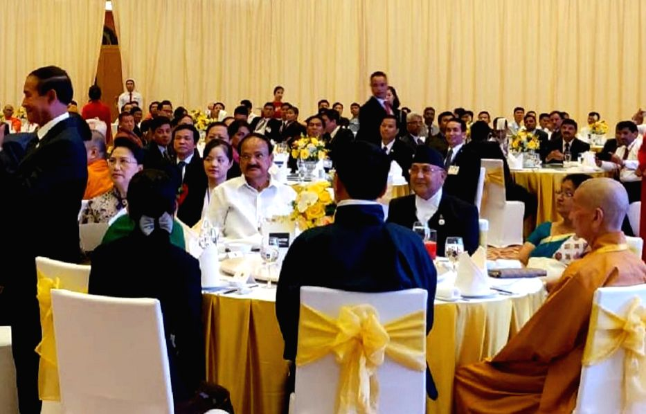 Vice President M. Venkaiah Naidu at a Gala dinner reception hosted by the Chairperson of the National Assembly of Vietnam, Nguyen Thi Kim Ngan at the National Convention Centre in Hanoi, ... - M. Venkaiah Naidu