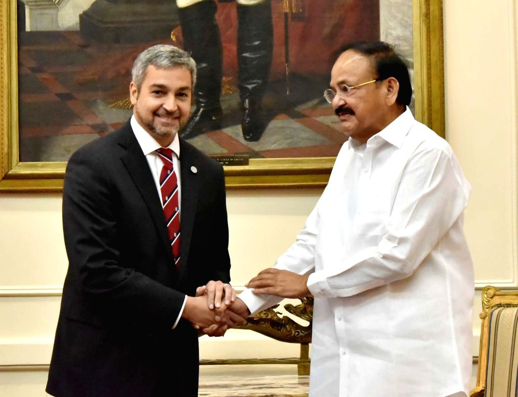 Vice President M. Venkaiah Naidu calls on Paraguay President Mario Abdo Benitez, in Asuncion, Paraguay, on March 6, 2019. - M. Venkaiah Naidu