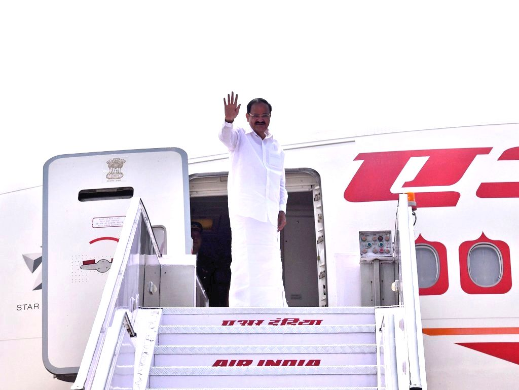Vice President M. Venkaiah Naidu departs from New Delhi on two-day state visit to United States of America (USA), in New Delhi, on Sept 7, 2018. - M. Venkaiah Naidu