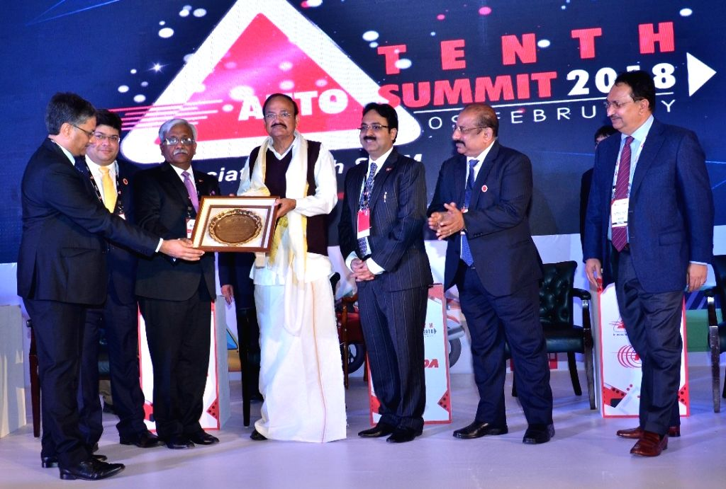 Vice president M Venkaiah Naidu during the inauguration session of 10 Auto Summit 2018, in New Delhi on Feb 9, 2018. - M Venkaiah Naidu