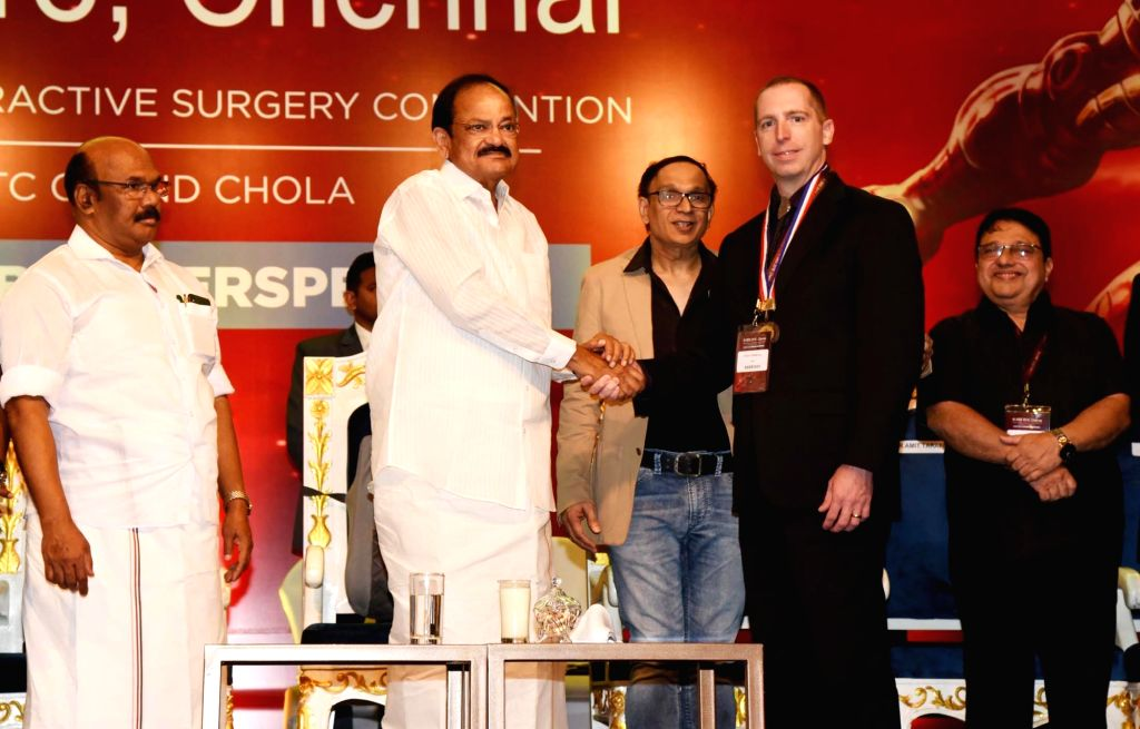 Vice President M. Venkaiah Naidu honours medical professionals in the field of Ophthalmology at the 32nd Intraocular Implant and Refractive Surgery Convention 2018, in Chennai on July 7, ... - D. Jayakumar and M. Venkaiah Naidu
