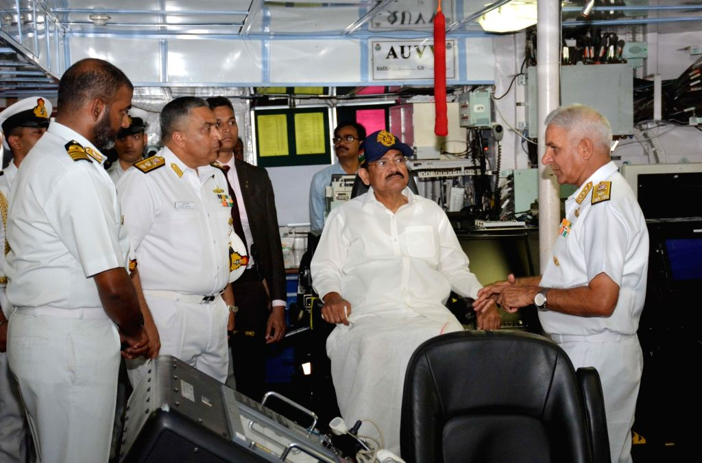 Vice President M. Venkaiah Naidu interacts with Naval Officers during his visit to the Eastern Naval Command in Visakhapatnam on Feb 8, 2020. - M. Venkaiah Naidu