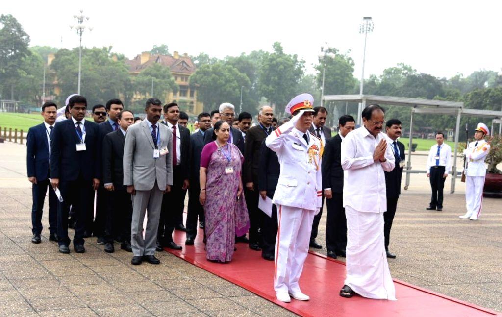 Vice President M. Venkaiah Naidu pays homage at the Ho Chi Minh Mausoleum in Hanoi, Vietnam on May 11, 2019. - M. Venkaiah Naidu