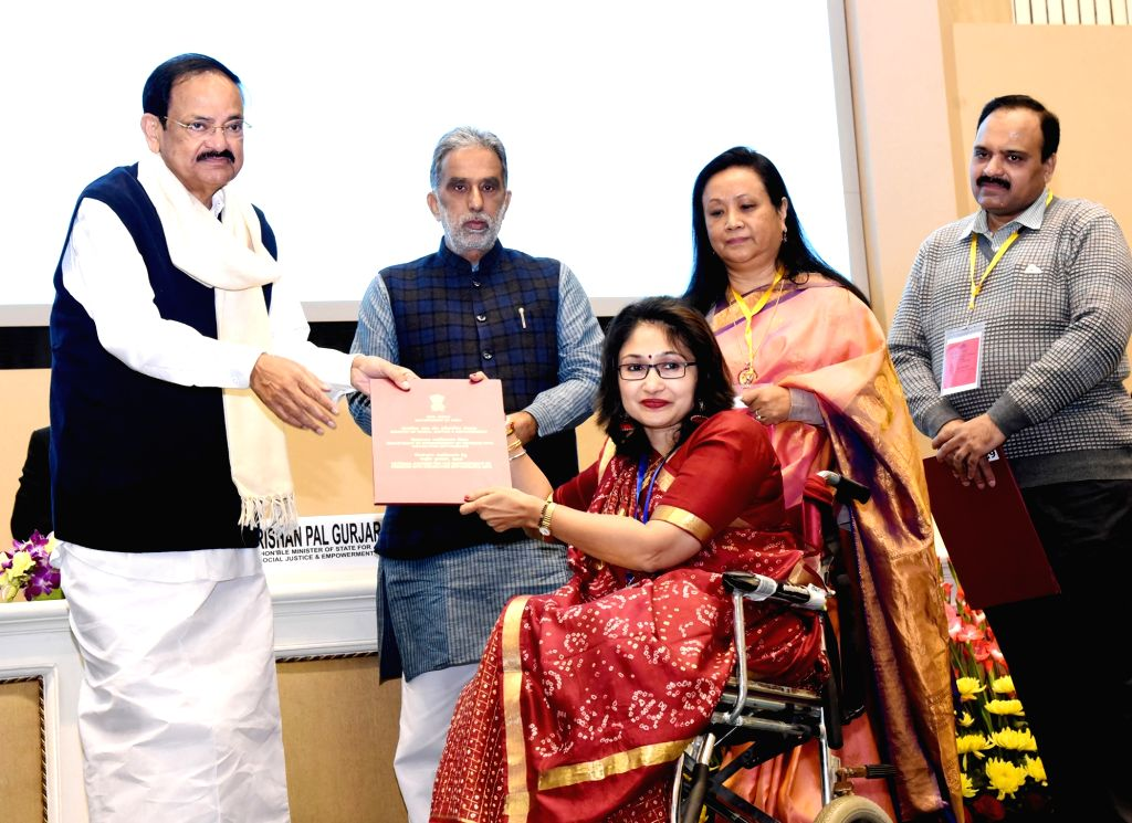 Vice President M. Venkaiah Naidu presents the National Award for the Empowerment of Persons with Disabilities (Divyangjan) on the occasion of International Day of Persons with Disabilities, ... - M. Venkaiah Naidu