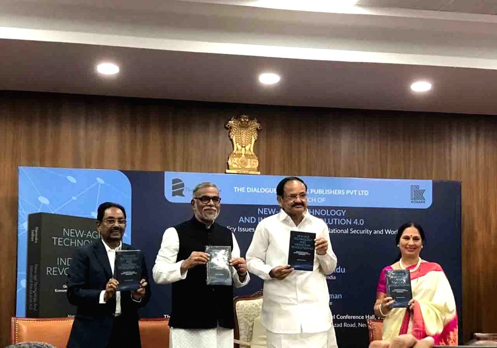 "Vice President M Venkaiah Naidu release the ""New Age Technology and Industrial Revolution 4.0: Global Public Policy Issues in Economy, Democracy, National Security and World ... - M Venkaiah Naidu"