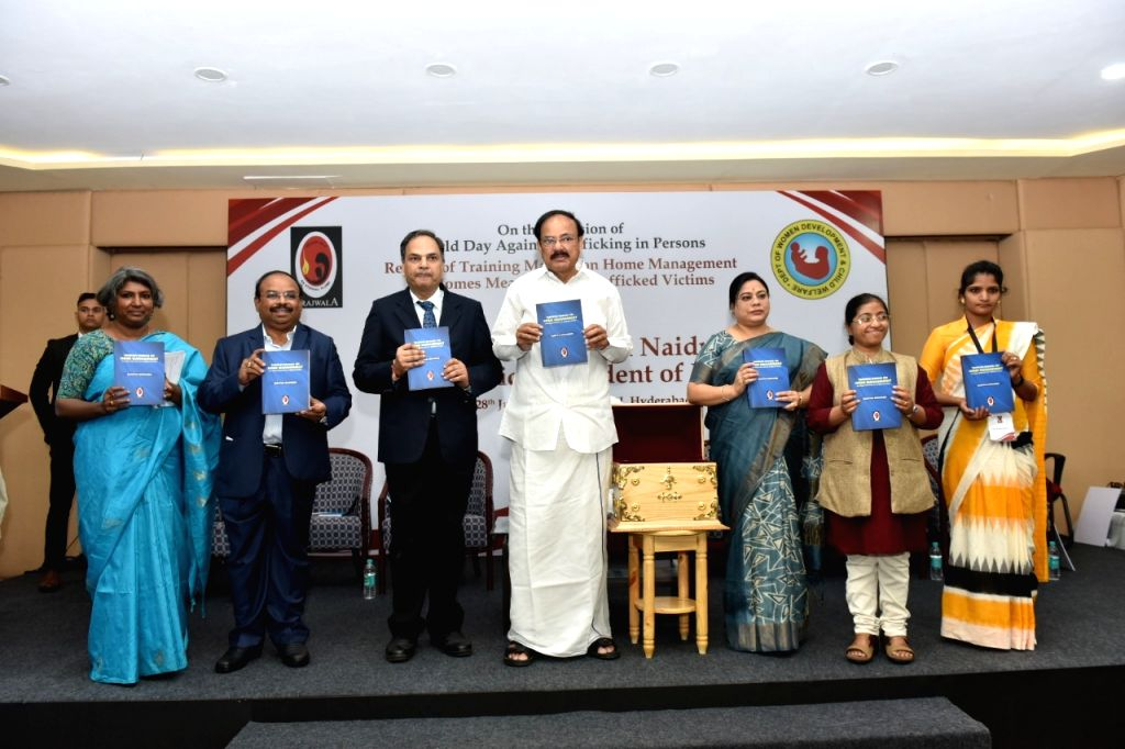 Vice President M. Venkaiah Naidu releases the Training Manual on Home Management for Homes Meant for Sex Trafficked Victims, on the occasion of World Day Against Trafficking in Persons, in ... - M. Venkaiah Naidu